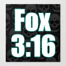 Fox 3:16 Canvas Print