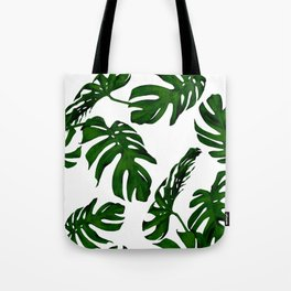 Simply Tropical Palm Leaves in Jungle Green Tote Bag