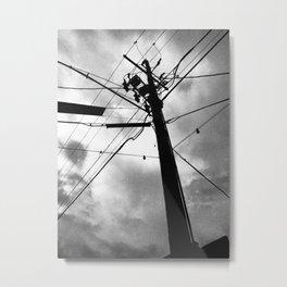 SKY + FIGURE Metal Print
