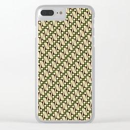 Batik Parang Green Pattern Clear iPhone Case
