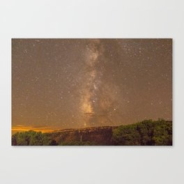 Milky Way Mesa Verde Colorado, United States Canvas Print