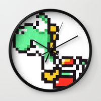 yoshi Wall Clocks featuring yoshi by Walter Melon