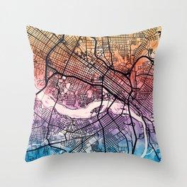 Richmond Virgina City Map Throw Pillow