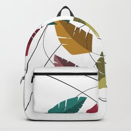 Abstract Colorful Palm Leaves Backpack