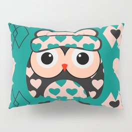 Owl and heart pattern Pillow Sham