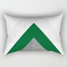 Marble Green Concrete Arrows Collage Rectangular Pillow