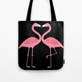 Flamingos Kissing in the Dark Tote Bag