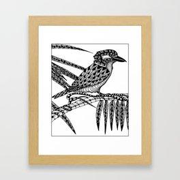 Tangled Kookaburra on White Framed Art Print