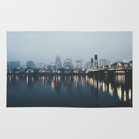 portland Area & Throw Rugs featuring Portland II by Hannah Kemp