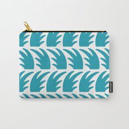 Tropical Wave Pattern Turquoise Carry-All Pouch