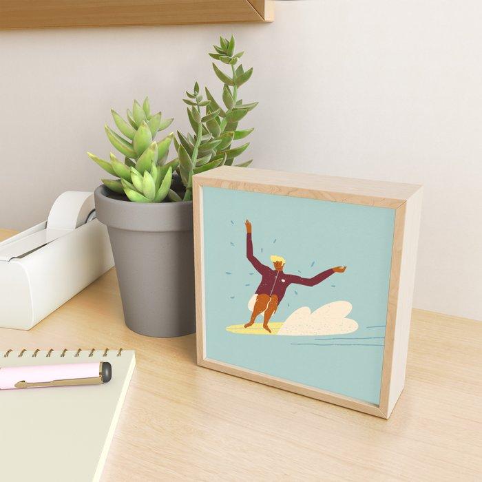 Surf buddy Framed Mini Art Print