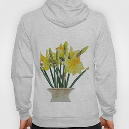 Daffodils in a vase watercolour painting Hoody