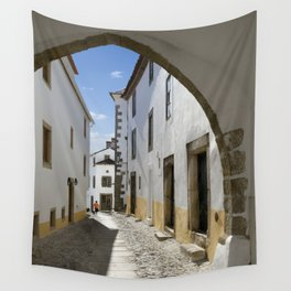 Marvao cobbled street Wall Tapestry