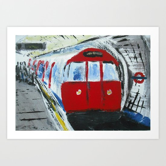 London Underground Acrylic On Canvas Board Fine Art Art Print