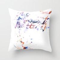 bjork Throw Pillows featuring Bjork by Bezmo Designs
