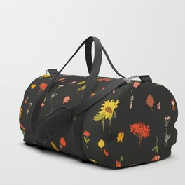 signs of fall with black background Duffle Bag