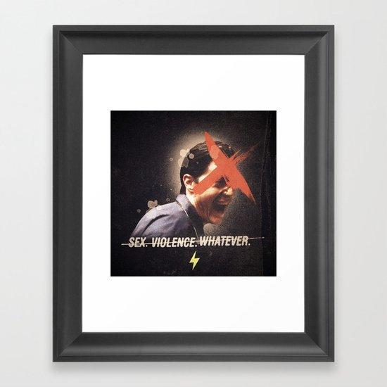 Black Mirror | Dale Cooper Collage Framed Art Print