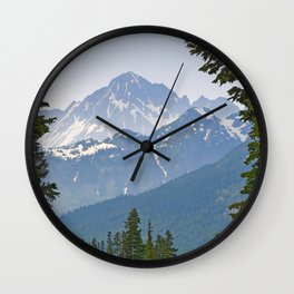MOUNT LARRABEE FROM HEATHER MEADOWS Wall Clock