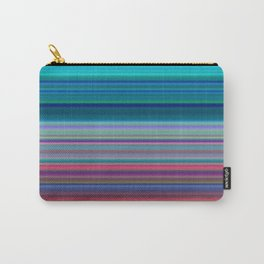 Blurry Saturn Stripes Carry-All Pouch