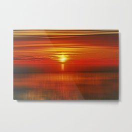 Irish Sea Sunset Metal Print