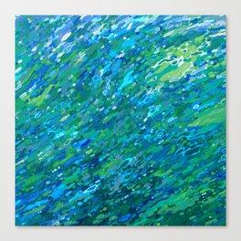 Shades Of Blue Waterfall Canvas Print