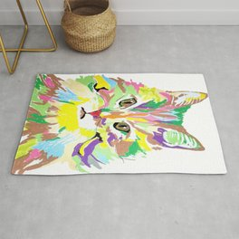 Colorful Kitty Rug