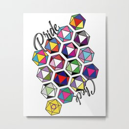 LGBTQ+ Pride Check d20 Gaming Gamer Dice Metal Print