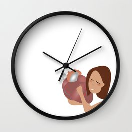 Heart too much Wall Clock