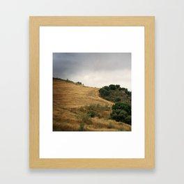 Field and sky, Spain Framed Art Print