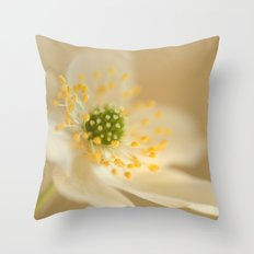 Blossom In Creme Throw Pillow