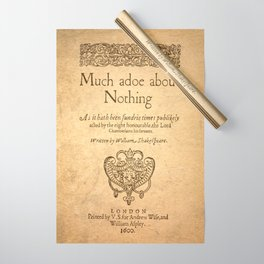 Shakespeare. Much adoe about nothing, 1600 Wrapping Paper