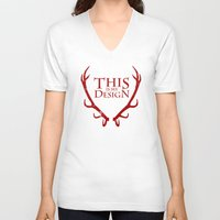 will graham V-neck T-shirts featuring House Graham by Alecxps
