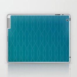 Wave pattern in teal Laptop & iPad Skin