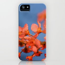 Floral Flash iPhone Case