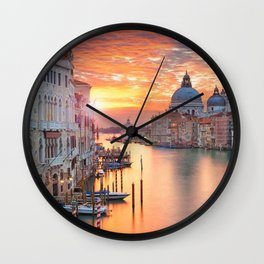 Sunset in Venice Wall Clock