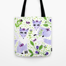 Lavender Foxes Tote Bag