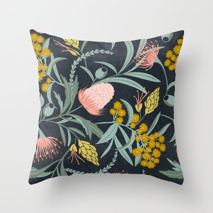 Flora Australis Throw Pillow