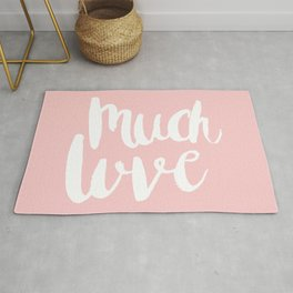 Much love - Soft Pink brush lettering Rug