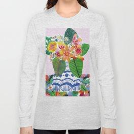 Abstract Flower Bouquet Long Sleeve T-shirt