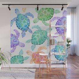 Sea Turtle - Colour Wall Mural