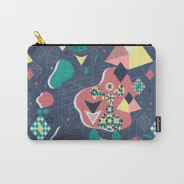 Abstract Fragmentation Carry-All Pouch