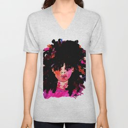 BABY HAIR AND AFROS Unisex V-Neck