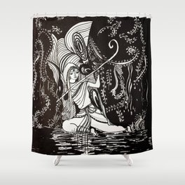 i will wait for u till end Shower Curtain