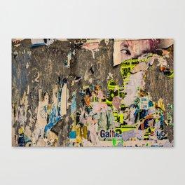 Peeling Poster Walls Canvas Print