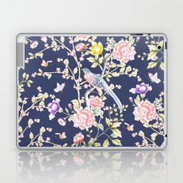 Chinoiserie Flowers and Birds Pattern Laptop & iPad Skin