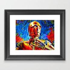 C3P0 Framed Art Print