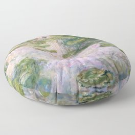 Claude Monet - Water Lilies Floor Pillow