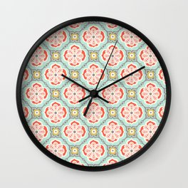 Alhambra Tile Wall Clock