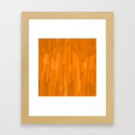 Geometric Brown Painting Framed Art Print