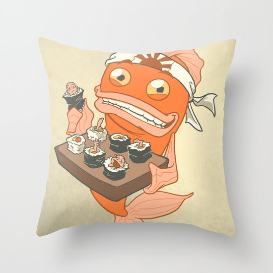 Sushi Fish 2 Throw Pillow